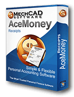 AceMoney Receipts Personal Finance Software