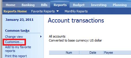 Transaction Customize